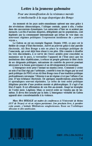 4eme Lettre à la jeunesse gabonaise
