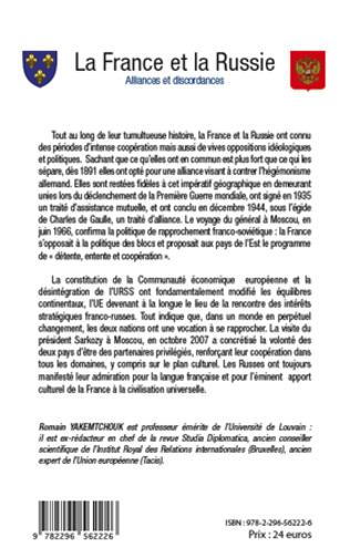 4eme La France et la Russie. Alliances et discordances