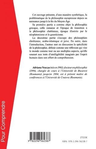 4eme Histoire de la philosophie ancienne et médiévale