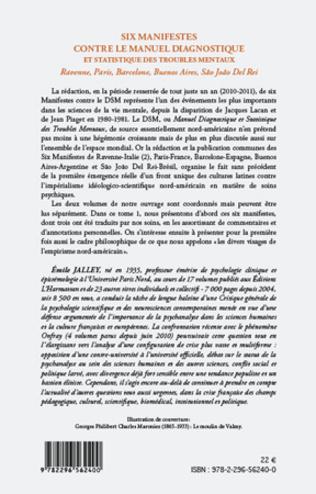 4eme Six manifestes contre le manuel diagnostique et statistique des troubles mentaux (Tome 1)