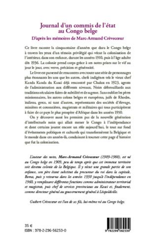 4eme Journal d'un commis de l'Etat au Congo belge
