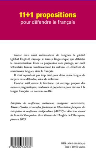 4eme 11 + 1 propositions pour défendre le français