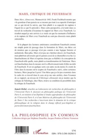 4eme Marx, critique de Feuerbach