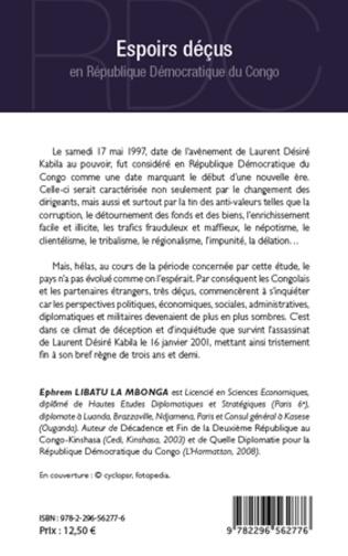 4eme Espoirs déçus en République Démocratique du Congo