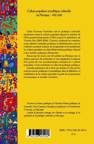 4eme Culture populaire et politique culturelle au Mexique (1920-2006)