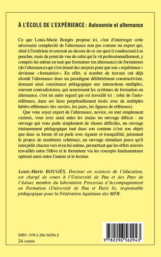 4eme A l'école de l'expérience: Autonomie et alternance