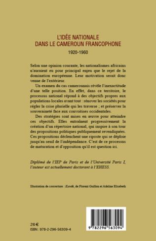 4eme L'idée nationale dans le Cameroun francophone