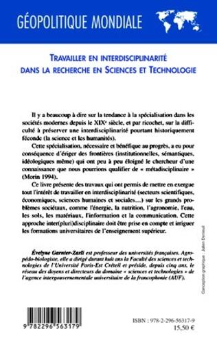 4eme Travailler en interdisciplinarité dans la recherche en sciences et technologie