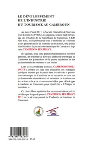 4eme Le développement de l'industrie du tourisme au Cameroun