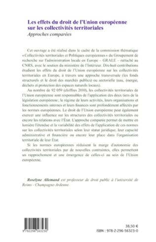 4eme Les effets du droit de l'Union européenne sur les collectivités territoriales