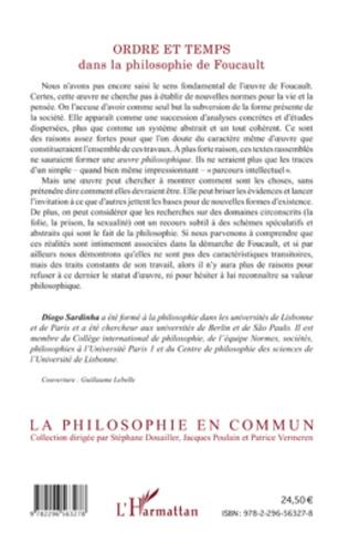 4eme Ordre et temps dans la philosophie de Foucault