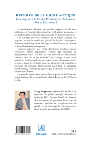 4eme Histoire de la Chine Antique (Tome 1)