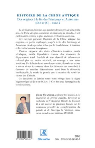 4eme Histoire de la Chine Antique (Tome 2)