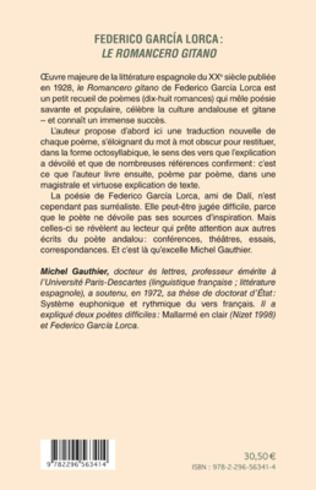4eme Federico García Lorca : <em>le romancero gitano </em>