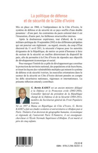4eme La politique de défense et de sécurité de la Côte d'Ivoire