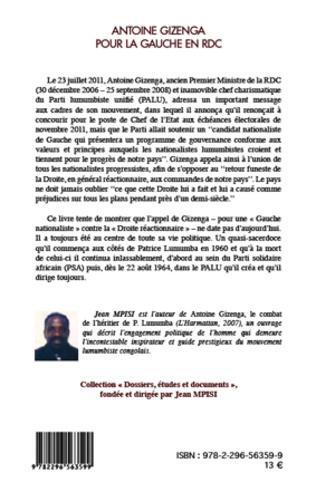 4eme Antoine Gizenga pour la gauche en RDC