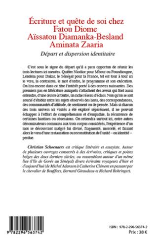 4eme Ecriture et quête de soi chez Fatou Diome, Aïssatou Diamanka-Besland, Aminata Zaaria