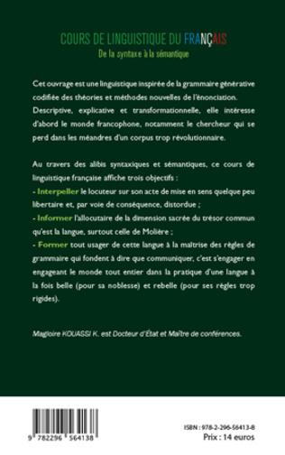 4eme Cours de linguistique du français