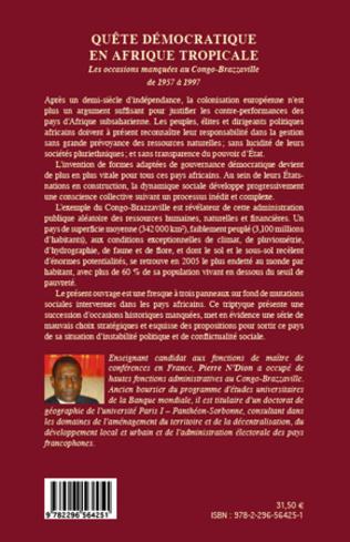 4eme Quête démocratique en Afrique tropicale