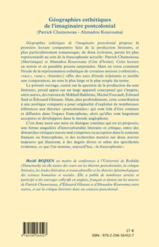 4eme Géographies esthétiques de l'imaginaire postcolonial