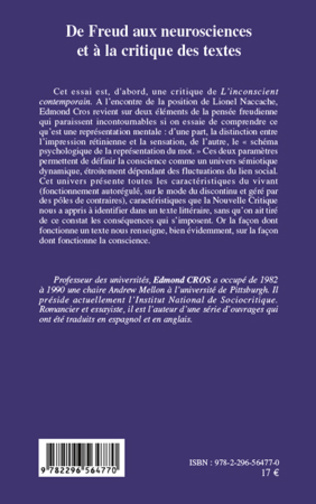 4eme De Freud aux neurosciences et à la critique des textes