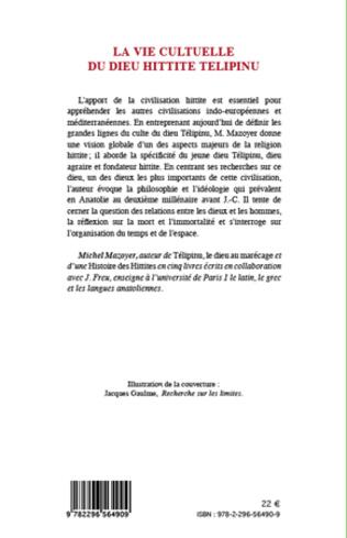 4eme La vie cultuelle du dieu hittite Télipinu