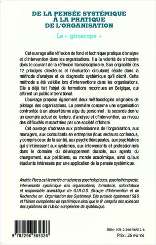 4eme De la pensée systémique à la pratique de l'organisation