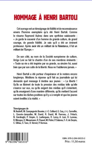 4eme Hommage à Henri Bartoli