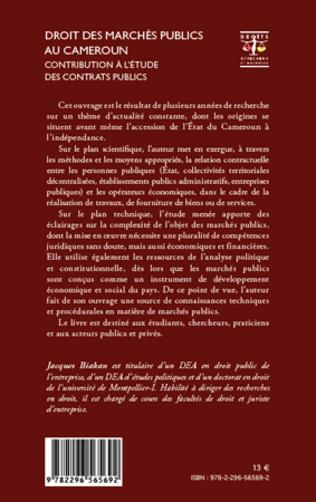 4eme Droit des marchés publics au Cameroun