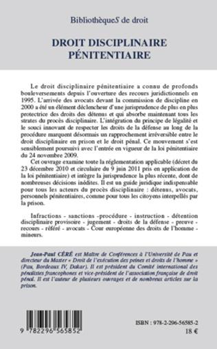 4eme Droit disciplinaire pénitentiaire