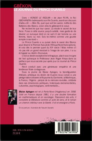 4eme Gbêkon, le journal du prince Ouanilo