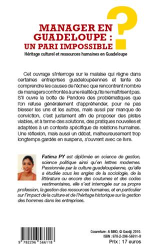 4eme Manager en Guadeloupe : un pari impossible ?