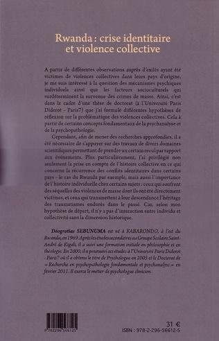 4eme Rwanda crise identitaire et violence collective