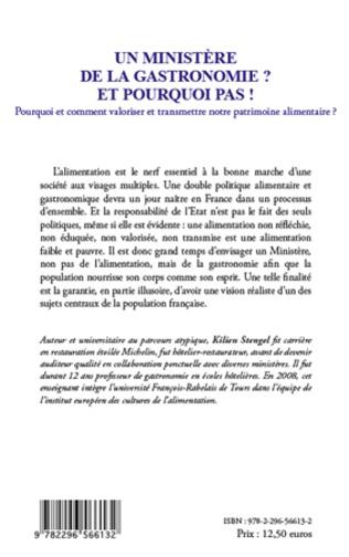 4eme Un ministère de la Gastronomie et pourquoi pas !