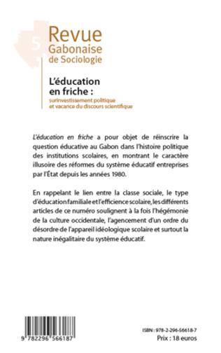 4eme L'éducation en friche
