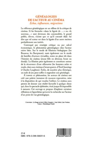 4eme Généalogies de l'acteur au cinéma