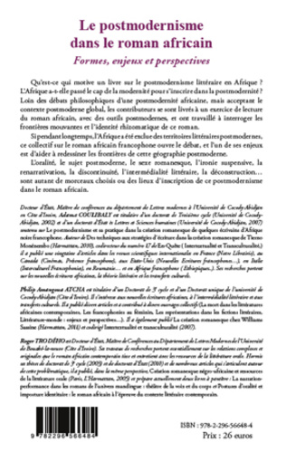 4eme Le postmodernisme dans le roman africain