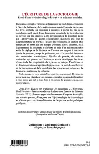 4eme L'écriture de la sociologie