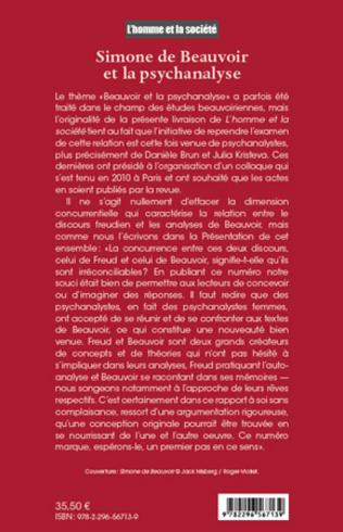 4eme Simone de Beauvoir et la psychanalyse