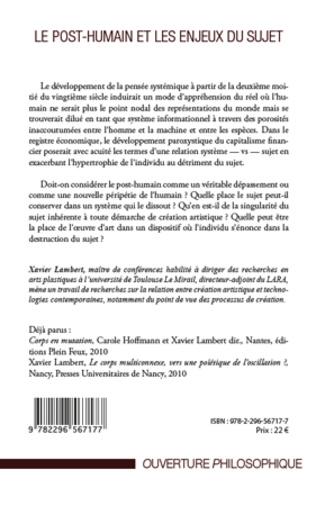 4eme LES ENJEUX D'IMMORTALITÉ POUR LE POST-HUMAIN, DANS LA RÉALITÉ ET DANS LE MONDE VIRTUEL DES JEUX VIDÉO