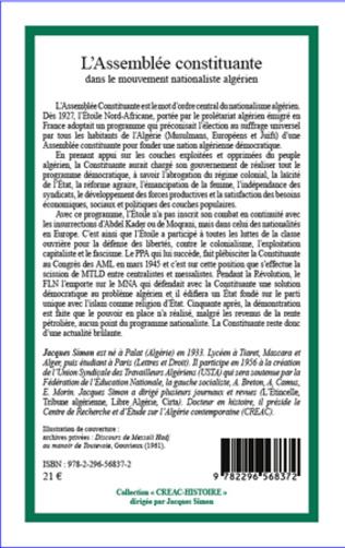 4eme L'Assemblée constituante dans le mouvement nationaliste algérien