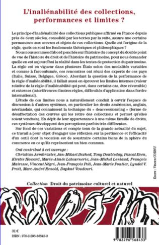4eme L'inéliénabilité des collections, performances et limites ?