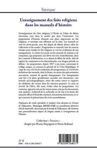 4eme L'enseignement des faits religieux dans les manuels d'histoire