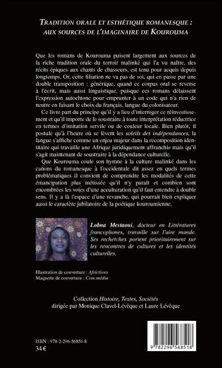 4eme Tradition orale et esthétique romanesque : aux sources de l'imaginaire de Kourouma