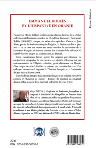 4eme Emmanuel Roblès et l'hispanité en oranie