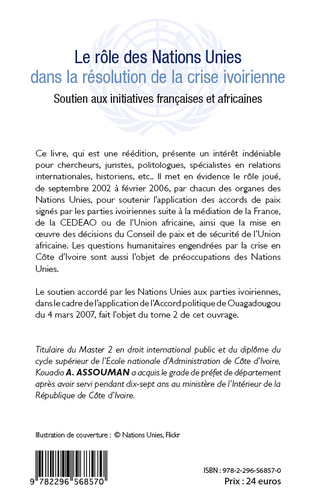 4eme Le rôle des Nations Unies dans la résolution de la crise ivoirienne (Tome 1)
