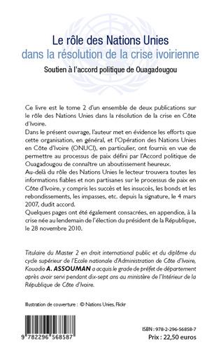 4eme Le rôle des Nations Unies dans la résolution de la crise ivoirienne (Tome 2)