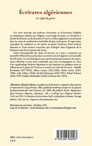 4eme Ecritures algériennes