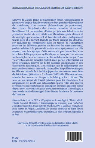4eme Bibliographie de Claude-Henri de Saint-Simon