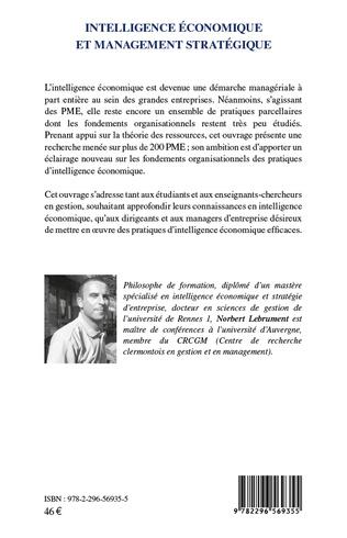 4eme Intelligence économique et management stratégique